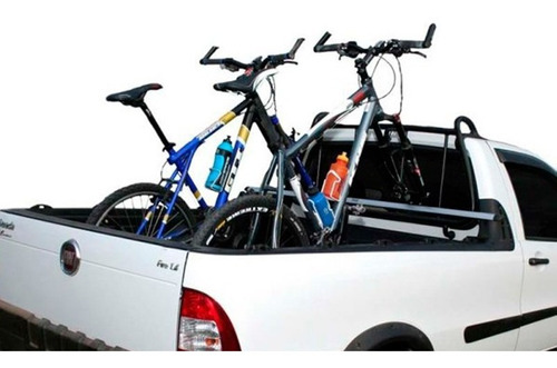 suporte 2 bike para caçamba nissan frontier vesuvio 180cm