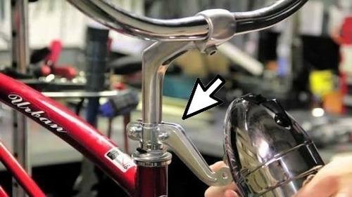 suporte abraçadeira d/ farol dínamo bicicletas antigas retrô