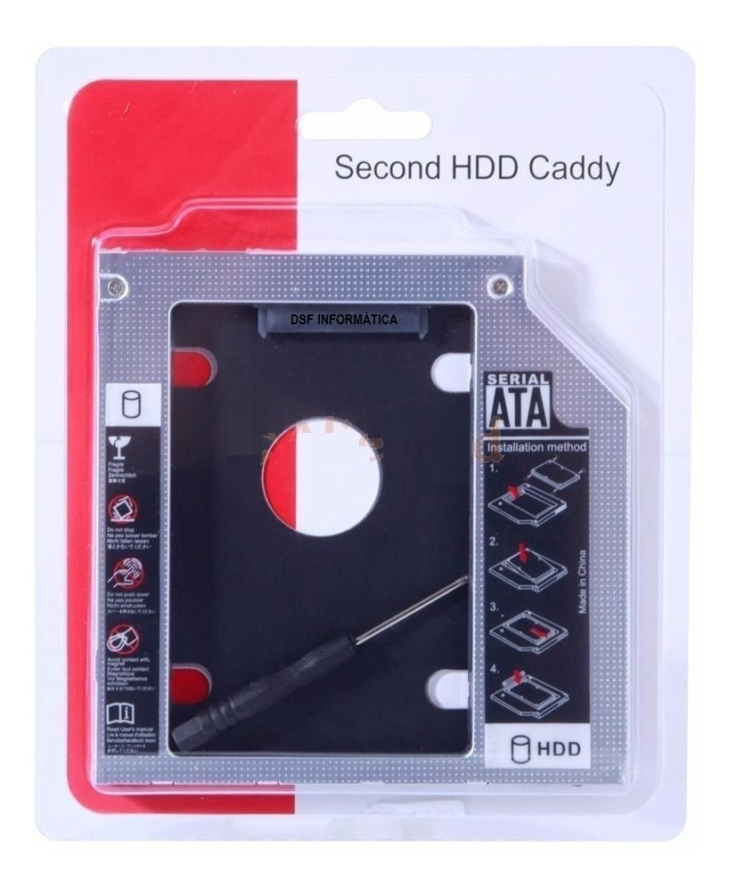 Suporte Adaptador Caddy Para Hd Ssd - Dell Inspiron 15-3567