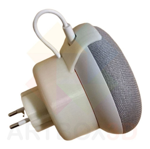 suporte adaptador de parede e tomada google home mini fixo