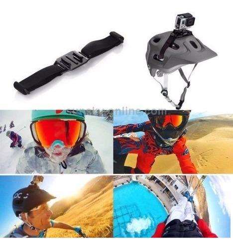 suporte adaptador gopro faixa fita capacete helmet ventilado