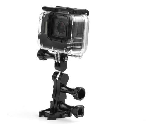suporte adaptador montagem alumínio 360º para câmeras gopro