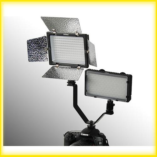 suporte adaptador v - 3 sapatas - flash microfone iluminador