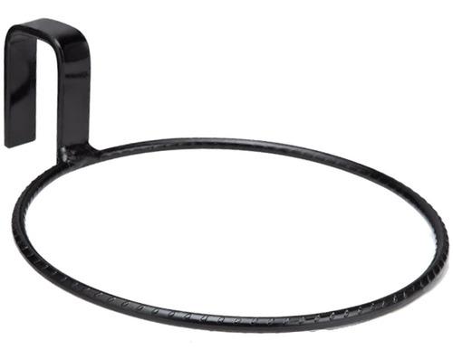 suporte anel raiz 21cm treliça vaso auto irrigável preto