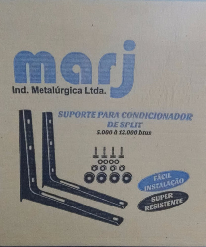 suporte ar condicionado split até 12.000btus (cx c/10 pares)