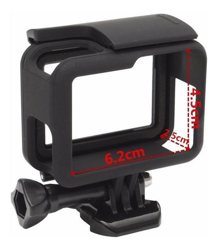 suporte armação moldura frame case aberta gopro hero 5 black