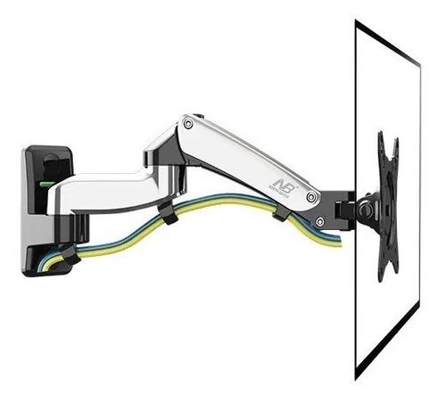 suporte articulado p/ tv monitor 17 a 27 pol pistão a gás