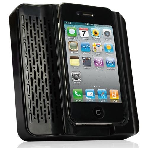 suporte august ms120w speaker acústico para iphone 4 / 4s