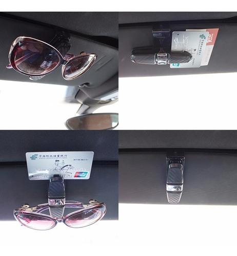suporte automotivo universal porta oculos sol cartão credito