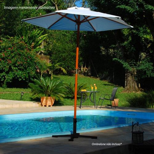 suporte base dobrável guarda sol ombrelone aço mor reforçada