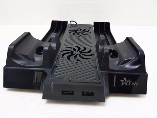 suporte base vertical carregador 4x1 xbox one cooler led xb