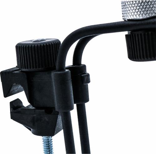 suporte bateria com clamp de microfone percussão b10 ask