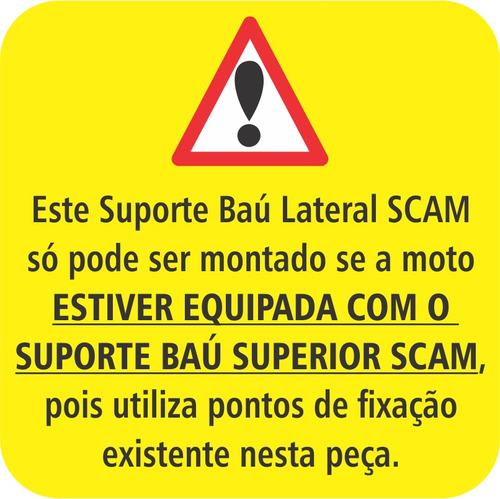 suporte baú lateral nc700 / nc 700 / nc700x / nc 700x