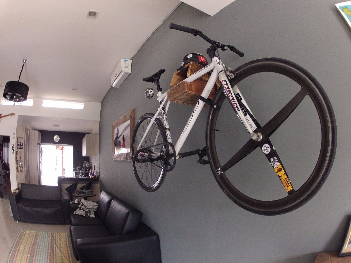 Suporte Bike Parede Madeira R$ 220 00 em Mercado Livre #7A5F4D 1200x900