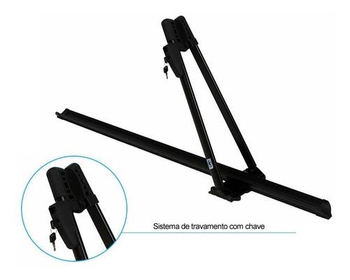 suporte bike teto - calha bike kiussi tonale 01-101b preto