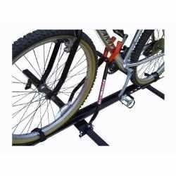 suporte bike teto transbike p/ uso sobre racks do carro