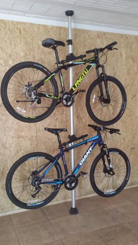 suporte bikes exposito/descanço telescópico em alumínio