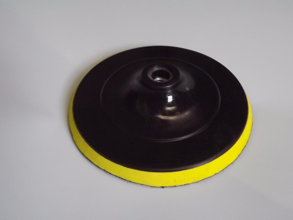 Suporte Boina 5 Polegadas Fixa Facil Polimento Vidro - R  34 a3a204401ac