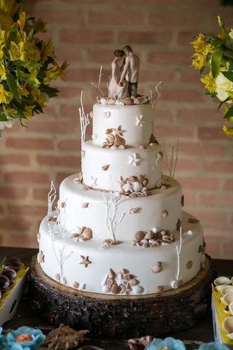 suporte bolo casamento rústico bolacha madeira campo e praia