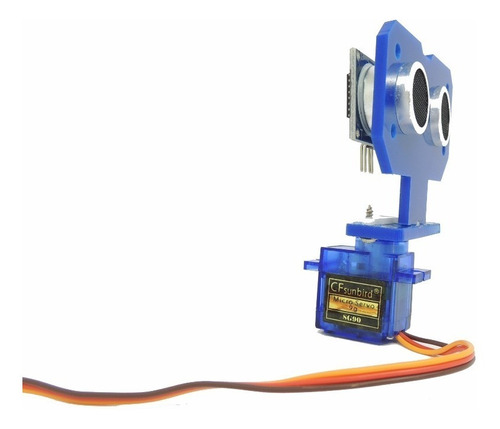 suporte c/ ultrassônico hc-sr04 + servo - movimento da base