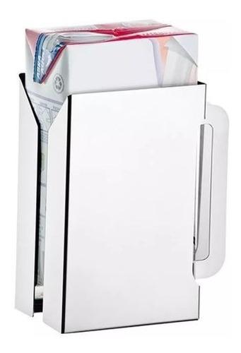 suporte caixa de leite suco 1l inox quadrada ou retangular