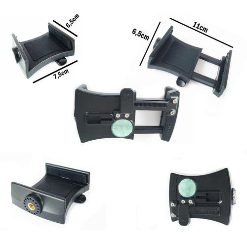 suporte camera celular p/ capacete vazado + faixa bike moto