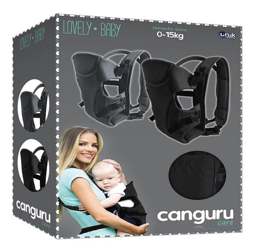 suporte canguru cinza para bebê lovely baby care - unik