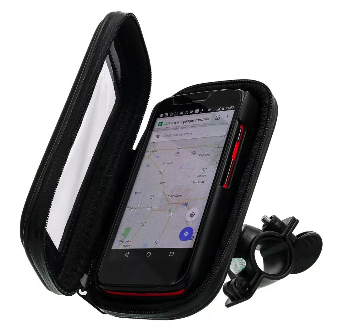 suporte capa celular prova d 39 gua suporte gps moto bike r 16 90 em mercado livre. Black Bedroom Furniture Sets. Home Design Ideas