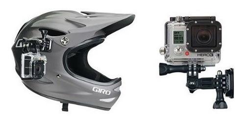 suporte capacete completo gopro hero 2 3+ 5  moto bicicleta