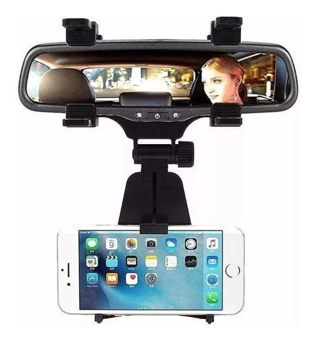 suporte carro veicular para celular gps retrovisor