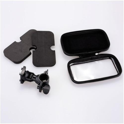 suporte case impermeável para gps celular iphone moto bike