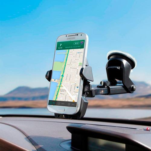 suporte celular carro new long trava automática anti queda