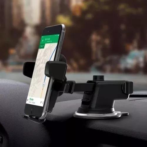 suporte celular carro new long trava automática anti queda r