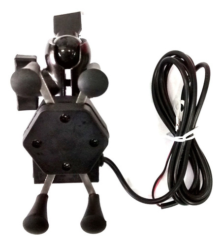 suporte celular p/ moto com carregador usb tomate