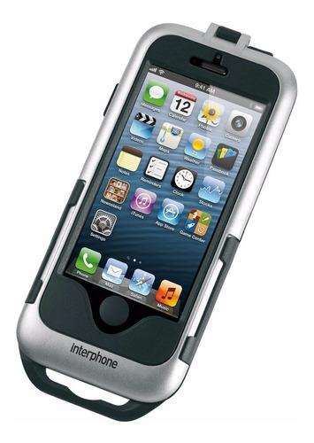 suporte celular smartphone iphone 5 5s interphone para moto