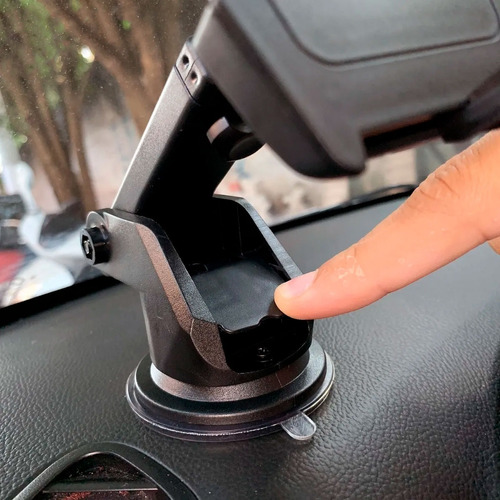 suporte celular veicular carro trava automática anti queda