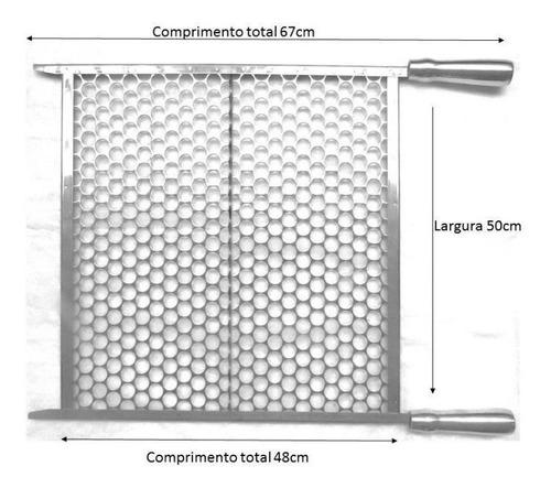 suporte churrasqueira pequena até 60cm + grelha moeda 50cm