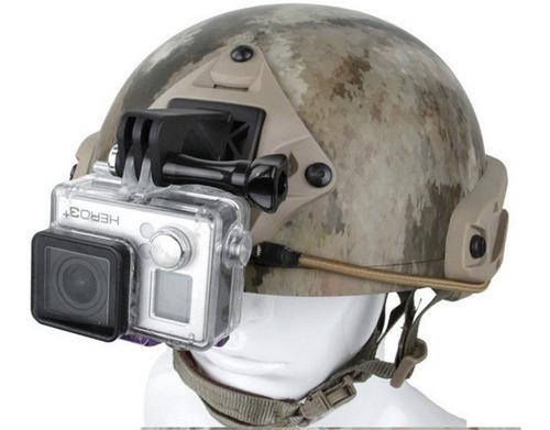 suporte câmera action go pro capacete emerson airsoft