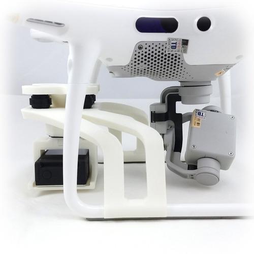 suporte câmera mapir - dji phantom 4 pro - (anti-vibração)