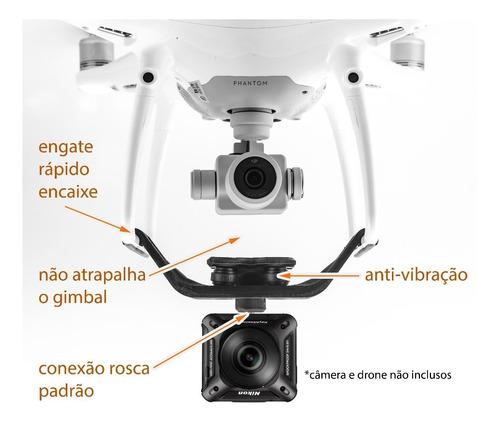 suporte câmeras leves / 360 anti-vibra p/ dji phantom 3 pro