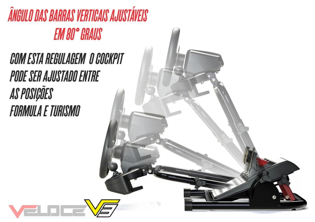 Suporte Cockpit Veloce V3 Para Logitech G27 G29 T80 T60 T150