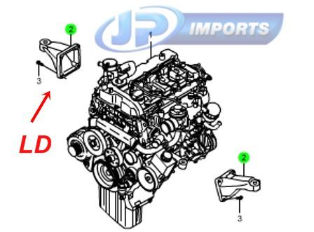 suporte coxim motor ld actyon kyron rexton  6652232304