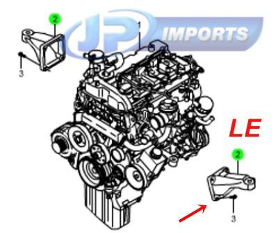 suporte coxim motor le kyron rexton  6652232204 jp002621