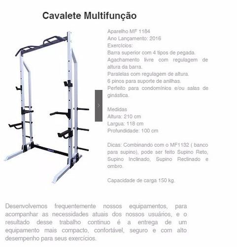 suporte de agachamento multi funcional multi fit 1184 preto