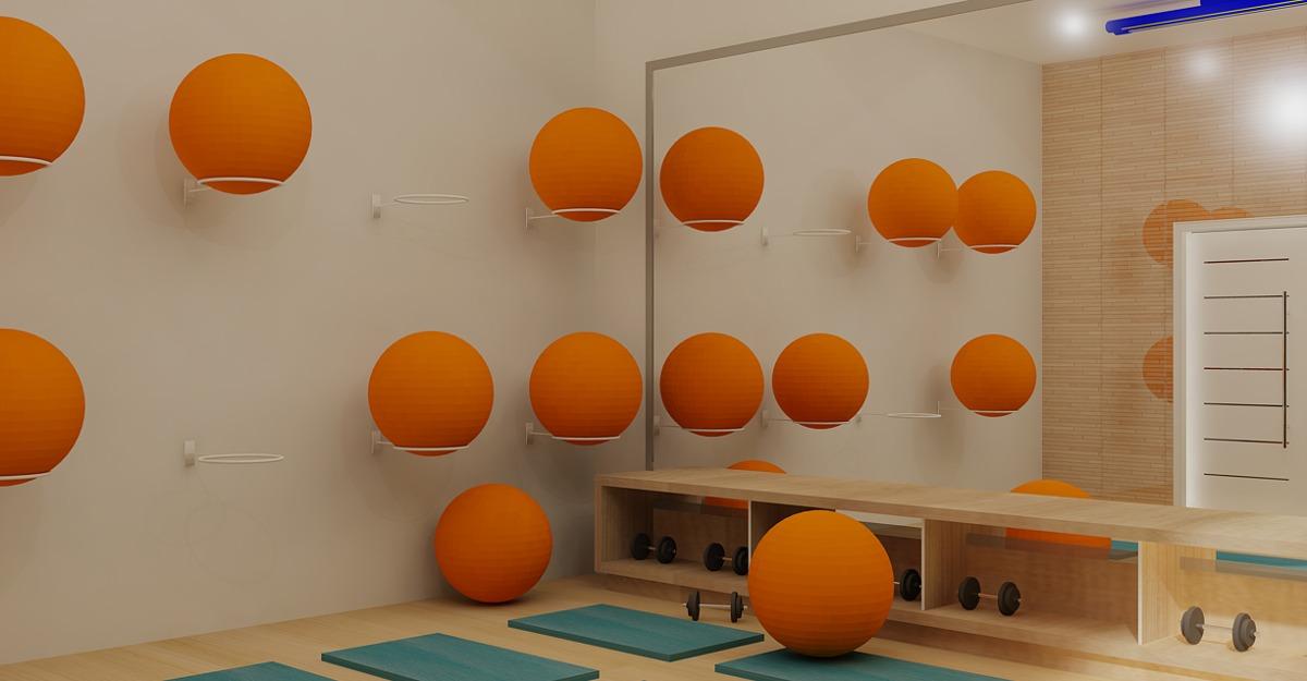 03b6d1f492635 suporte de bola suiça ou pilates de parede - kit com 20 uni. Carregando  zoom.
