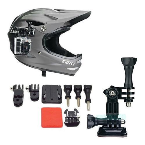 suporte de capacete  gopro hero 2 3 e 3+ 4 5 moto bicicleta