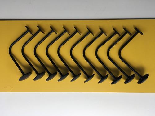 suporte de capacetes p/ parede kit c/ 10 pçs ( exclusivo )