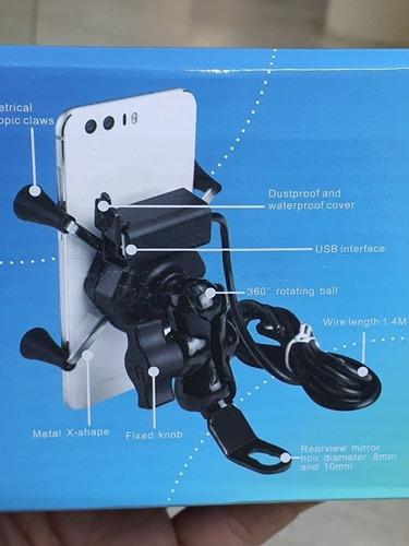 suporte de celular com carregador universal para moto