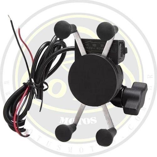 suporte de celular moto 6 polegadas com carregador usb chave liga / desliga tmac 001961 com nota