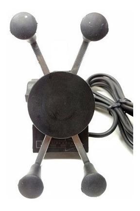 suporte de celular/gps com carregador fixacao guidao tmac